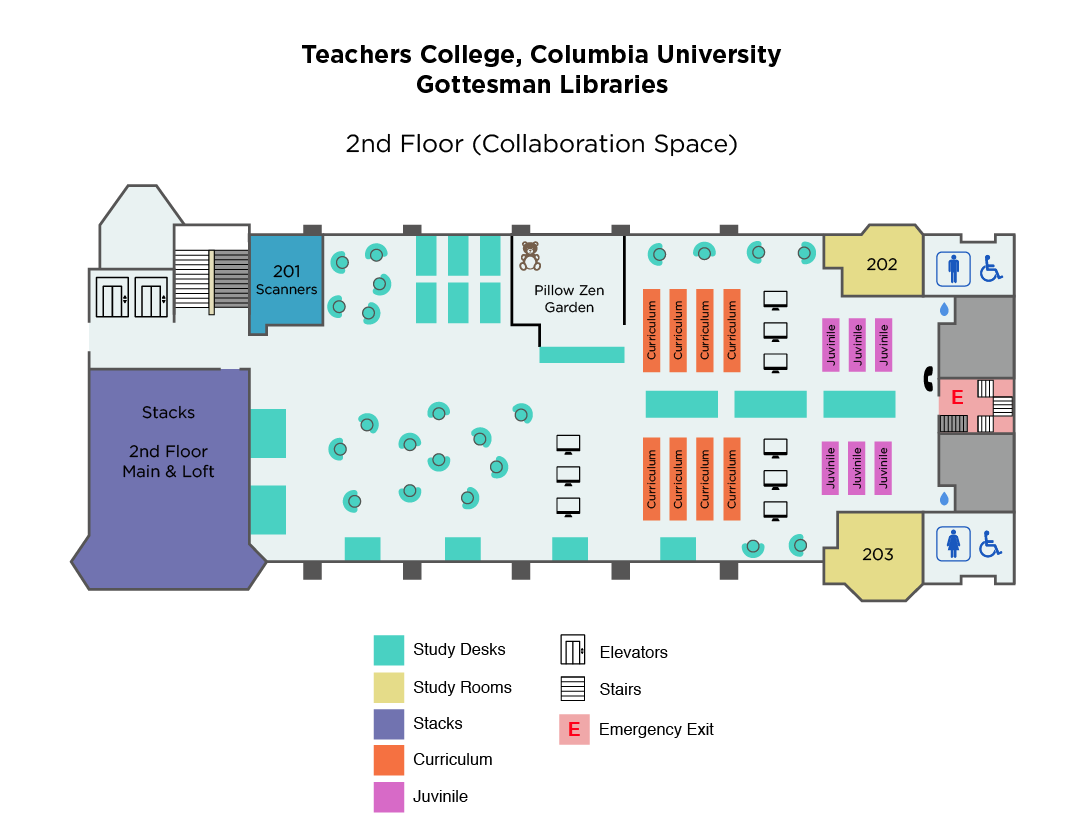 TC Library - 2nd Floor Map